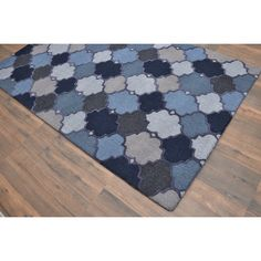 awesome Hand-tufted Moroccan Trellis Dot-n-knot Blue Wool Contemporary Area Area Rug (5' x 8') Check more at http://yorugs.com/product/hand-tufted-moroccan-trellis-dot-n-knot-blue-wool-contemporary-area-area-rug-5-x-8/