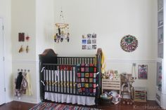 Enjoying the Small Things nursery// love the hooks and toys kids can reach
