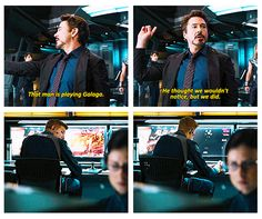"""""""That man is playing Galaga!"""" One of my favorite scenes in The Avengers!!!"""