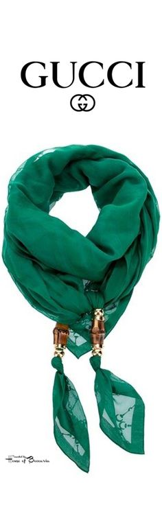 ~Gucci Cotton Voile Scarf | House of Beccaria