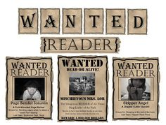 """Editable Western """"WANTED"""" theme posters in powerpoint so you can upload your own students pictures and writings. Completely adaptable to speech related """"wanted signs"""" Library Bulletin Boards, Bulletin Board Display, Western Bulletin Boards, Library Themes, Library Displays, Book Displays, Cowboy Theme, Western Theme, Western Style"""