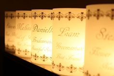 Place Card Luminarias Black Vintage Scroll Design- the papery nook - Etsy