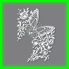 Wandschablone Maler T-shirt Schablone W-071 Schmetterling ~ UMR Design