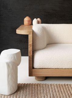 Native sofa, by Emmanuelle Simon at Furniture Upholstery, Furniture Decor, Furniture Design, Furniture Vintage, Industrial Furniture, Vintage Industrial, Industrial Style, Sofa Design, Design Design