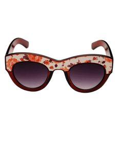Vintage Floral Print Sunglasses