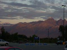 The view outside Walmart in Wasilla, AK (8/2010)