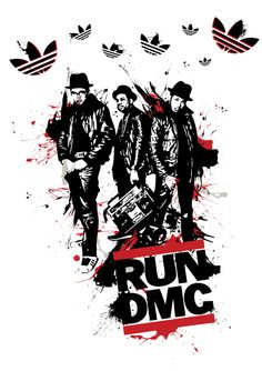 More than any other hip-hop group, Run DMC are responsible for the sound and style of the music. Arte Do Hip Hop, History Of Hip Hop, Run Dmc, Hip Hop And R&b, Samsung, Hip Hop Artists, Graffiti Art, Music Graffiti, Old School