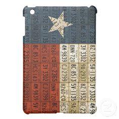 Texas Flag Lone Star State License Plate Art iPad Mini Case!
