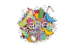Propuesta de diseño para el concurso CAPEL Tropical drinks 2015-Proposed design for CAPEL 2015 Tropical drinks