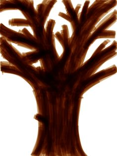 And this is a doodle of a tree without leaves.