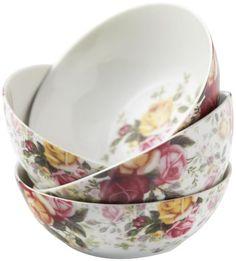 Royal Albert Country Rose Chintz All-Purpose Bowls, Set of 4 Royal Albert