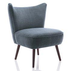 Sessel im modernen Retro-Look in rosé, grau/blau, hellgrau bei IMPRESSIONEN