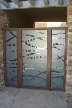 These glass exterior doors are hand-crafted, sandblast frosted.  Available in 8…
