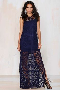The Finders Keepers We Are Nowhere Lace Maxi Dress will have you at the top of every VIP list in town1