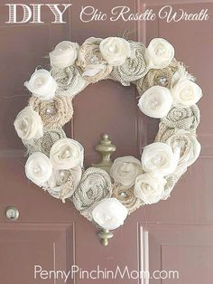 This adorable wreath is super simple to make and will bring a gorgeous touch to any door!
