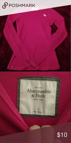 Abercrombie & Fitch long sleeve shirt Size small, great condition, pink long sleeve Abercrombie & Fitch Tops Tees - Long Sleeve