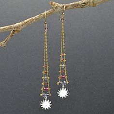 Gorgeous ladder earrings! I'd like to make these with a dainty leaf pendant instead of the sun
