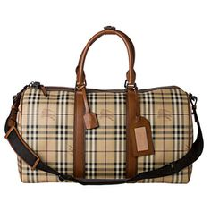 Burberry Haymarket Check Holdall Duffle Bag | Overstock.com Shopping - The Best Deals on Designer Handbags
