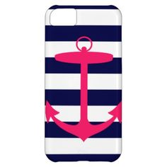 Pink Anchor Silhouette iPhone 5C Cases