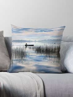 'Rowing in the sky' Throw Pillow by Hercules Milas Throw Pillows Bed, Decorative Throw Pillows, Rowing, Hercules, Framed Art Prints, Wall Tapestry, Travel Destinations, Ships, Sky
