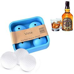 2 inch Bar Drink Whiskey Sphere Big Round Golf Ball Shape Ice Brick Cube Maker Tray Mold Blue >>> Continue to the product at the image link.