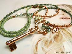 Lange Kette ★ böhmische Glasperlen ★ Schlüssel von ★ Only_ for_ you* ★  auf DaWanda.com