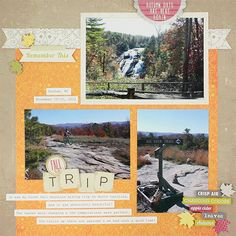 Our Trip Days of Fall Scrapbook Layout