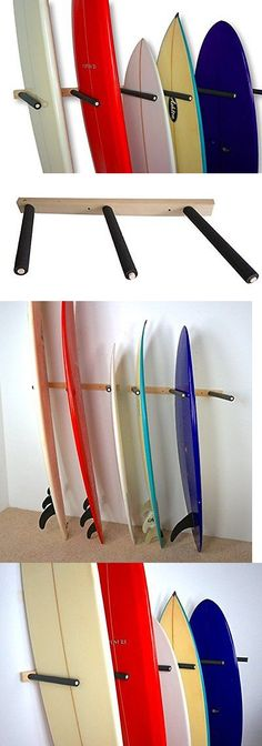 Storage and Display Racks 159164: Vertical Surf Storage Rack | 6 Surfboard Wall Mount | Storeyourboard BUY IT NOW ONLY: $59.93