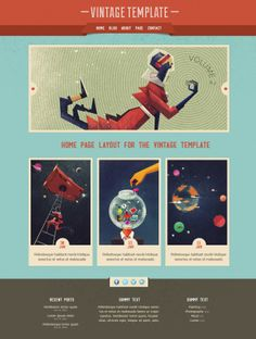 Vintage Home Page – #Free #PSD