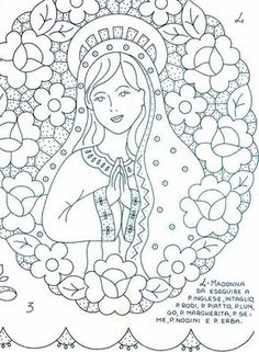 Gallery.ru / Фото #72 - disegni ricamo - antonellag Cutwork Embroidery, Hand Embroidery Designs, Embroidery Patterns, Cross Stitch Patterns, Crochet Patterns, Bible Coloring Pages, Coloring Books, Stencil Designs, Mosaic Patterns