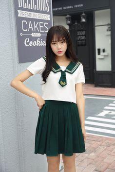 High Quality Girl Japanese Uniform Sailor School Uniform Set Plus Size XL…