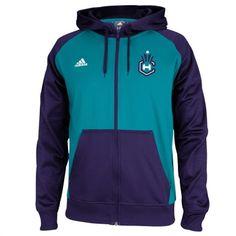 adidas Charlotte Hornets Pre-Game Full Zip Hooded Jacket #hornets #nba #basketball