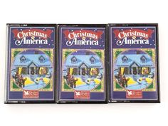 Set Of 3 Christmas In America Music Cassette Tapes Reader's Digest 1988 Christmas In America, Readers Digest, Music, Cards, Musica, Musik, Muziek, Maps, Music Activities
