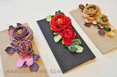 Thin clutches with flowers