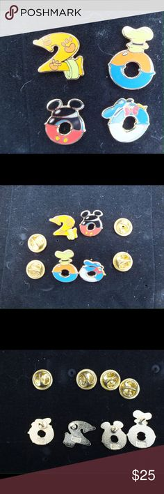 Disney World Set of 4 Year 2000 Year Pins, Vintage Disney World Set of 4 Year 2000 Year Pins, Pins are enamel and gold metal alloy and they are in mint condition.  This would make an excellent gift for any Walt Disney Fan!!  Pin and pin back only, no card is included.  Pin is in mint condition, Pin originally bought at Walt Disney World. Pins are from original owner and have never been traded or circulated.  Pins has always been stored a collectors book to protect them.  Pin has ©Disney…