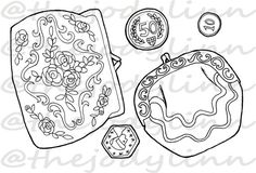 Museum Drawer: Coin Purses 2. Instant Download Digital Stamp Bundle. Line Art Illustration for Cards and Crafts Coin Purses, Digital Stamps, Line Art, Drawers, Coins, Illustration Art, Museum, Crafts, Etsy