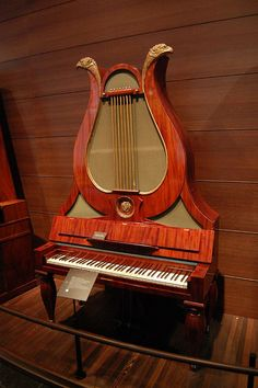 Keyboard instrument at Musee des Instruments de Musique / Musical Instrument Museum, Brussels, Belgium by Photo Phiend, via Flickr