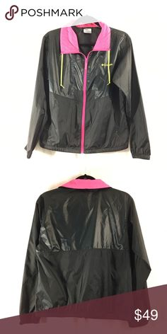 Columbia lightweight jacket NWOT. Only tried on. Hot pink, hi lighter yellow, and black! Bundle 3+ from my closet and get 15% off, only pay shipping ONCE, and get a free gift! Columbia Jackets & Coats