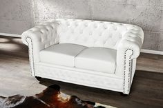 Sofa Chesterfield Small weiss