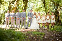 "Okay....her goes:  EVERYTHING about this wedding in the woods is awesome!  The photography is picture perfect.  Check it out for ""rustic"" or ""woodsy"" wedding ideas."