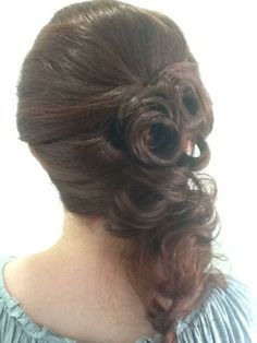 Curly Sideswept Hairstyle www.hairdesigners.ca Wishful Thinking, Something Beautiful, Hair Designs, Prom Hair, Cut And Color, Cute Hairstyles, Pageant, Hair Ideas, Curly