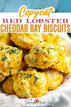 Copycat Red Lobster Cheddar Bay Biscuits are soft, fluffy, cheesy, garlicky, and EVEN BETTER than the originals. Plus, they're super easy to make in less than 30 minutes! Fluffy and cheesy with just a touch of spice from cayenne pepper and plenty of garlic butter brushed all over the top! | The Gracious Wife @thegraciouswife #cheddarbaybiscuits #redolobstercopycatrecipes #cheddarbaybiscuits #easycheddarbicuitrecipes #thegraciouswife
