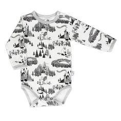 Moomin Mountains bodysuit by Martinex