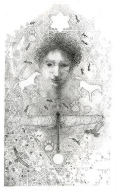 annieleroux.co.za  pen and ink dragonfly Annie, Ink, Artwork, Work Of Art, Auguste Rodin Artwork, Artworks, India Ink, Illustrators