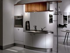 compacte keuken van de toekomst