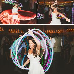 OMFG hula hoop dancing at her wedding! This couple's wedding is what I hope mine could be even in the slightest (maybe not the garden but all the decor, looks, games etc) DREAMING