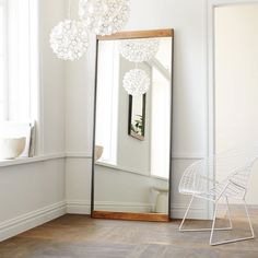 West Elm Metal + Wood Floor Mirror /