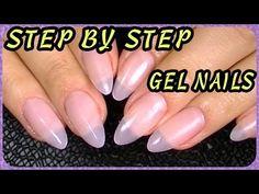 ▶ Oval,Stiletto Nails How I Do My Gel Nails - YouTube