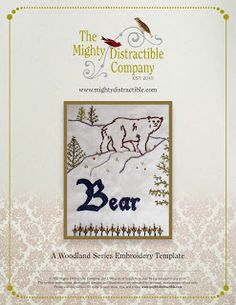 Mighty Distractible: Free Bear Embroidery Pattern!