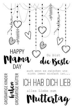 "Klartext-Stempelset ""Happy Mama-Day"" von www.danipeuss.de #danipeuss #klartextstempel"